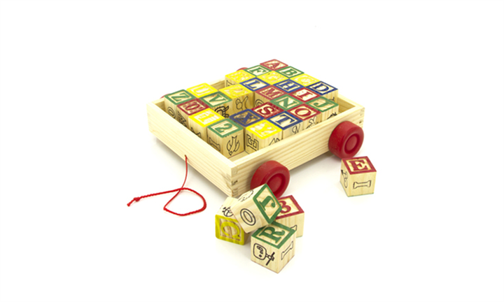 30-piece Wooden ABC Block Cart For R199 incl Delivery