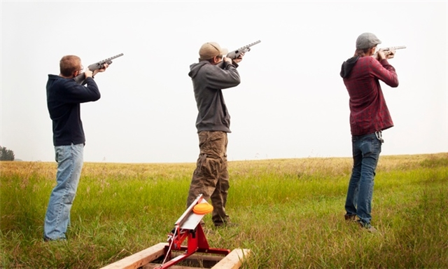 Clay Pigeon Shooting from R180 at Earth Adventures