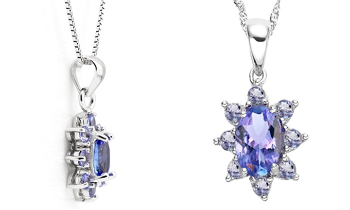 Oval Tanzanite Necklace and Pendant for R679 incl Delivery