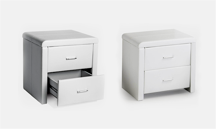 Two Drawer Faux Leather Pedestal for R999 incl Delivery
