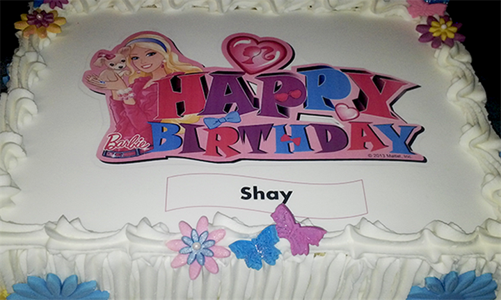 Picture Transfer Cake for R239 from Cups and Cakes