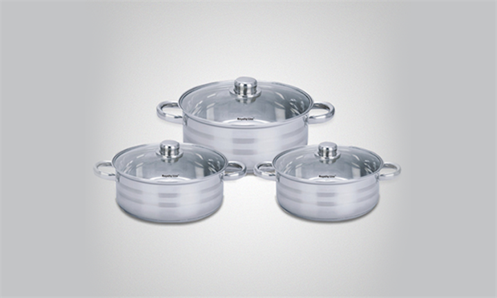 Royalty Line 6-Piece Stainless Steel Stock Pot Set for R799