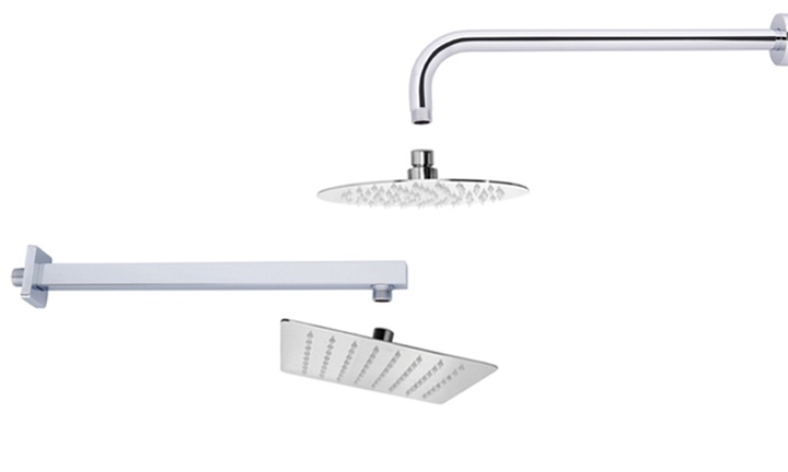 Superslim Stainless Steel Shower Heads or Arms From R349 Incl Delivery