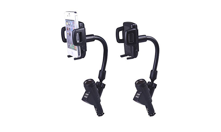 Car Charger Holder with Dual USB port and one Cigarette Lighter for R249 incl Delivery
