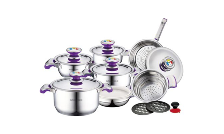Royalty Line 16-Piece Stainless Steel Cookware For R1149