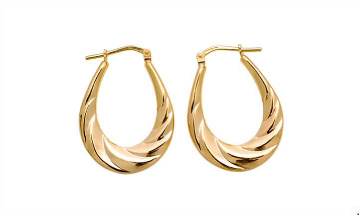 9ct/925 Gold Fusion Creole Hoop Earrings for R299