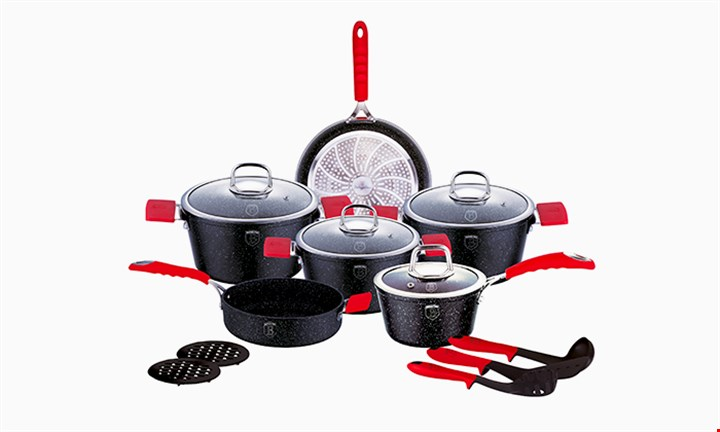 Berlinger Haus 15-Piece Marble Coating Oven Safe Stone Touch Cookware Set for R2249