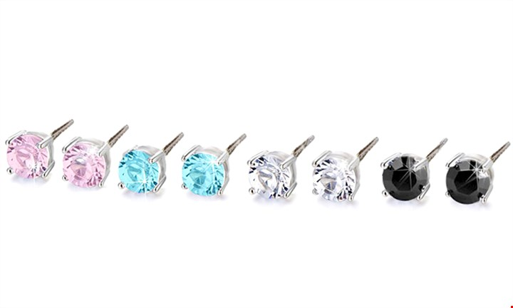 Set of 4 Swarovski Elements Earrings for R269 incl Delivery