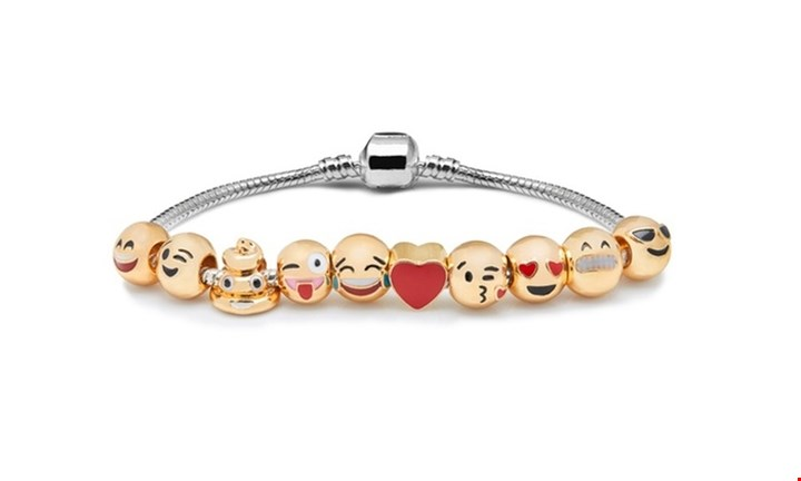 10 Charm Emoji Bracelet for R279.00