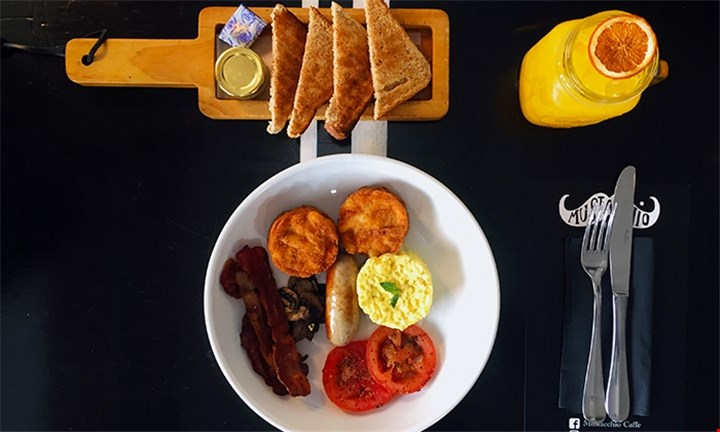 Mustacchio Breakfast including Juice for R109 For Two