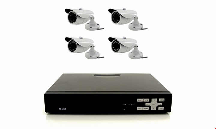 4ch AHD CCTV Kit with Internet & 4G Viewing for R1999 incl Delivery