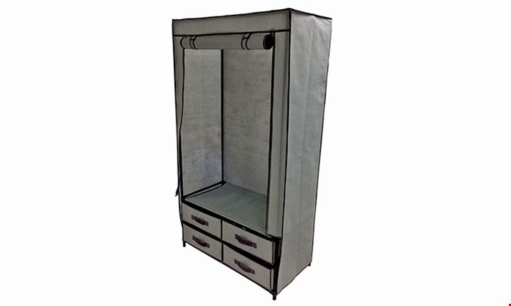 Hanging Wardrobe with 4 Drawers for R399
