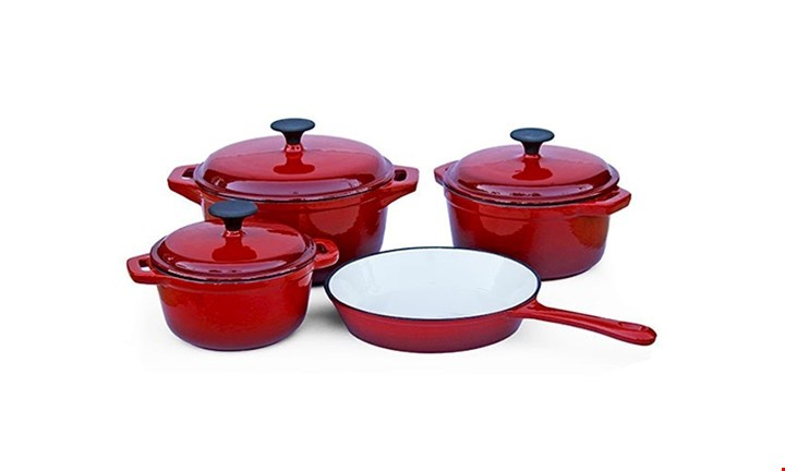 7pc Cast Iron Set for R1399 incl Delivery