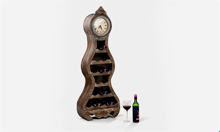 Wooden Wine Rack with Clock for R1399 incl Delivery