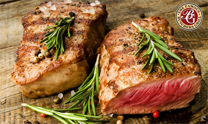 Choice of 200g Steak with a Choice of Side from R155 for Two at The Famous Butchers Grill