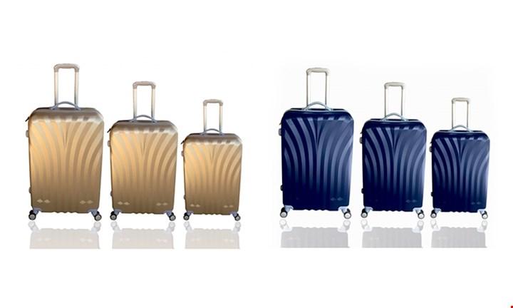 Designer 3-Piece Travel Trolley Luggage Set for R1499
