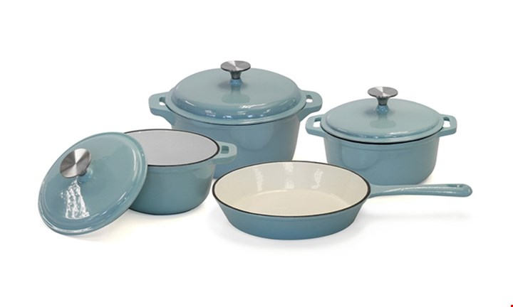 Fine Living Pastel 7pc Cast Iron Set for R1699 incl Delivery