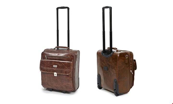 Hazlo PU Leather Laptop Trolley Travel Bag for R999