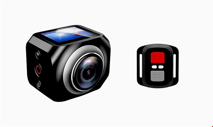 Nevenoe FHD VR 360 Degrees WiFi Sport Action Camera with Remote Control (Virtual Reality Panoramic) for R1249