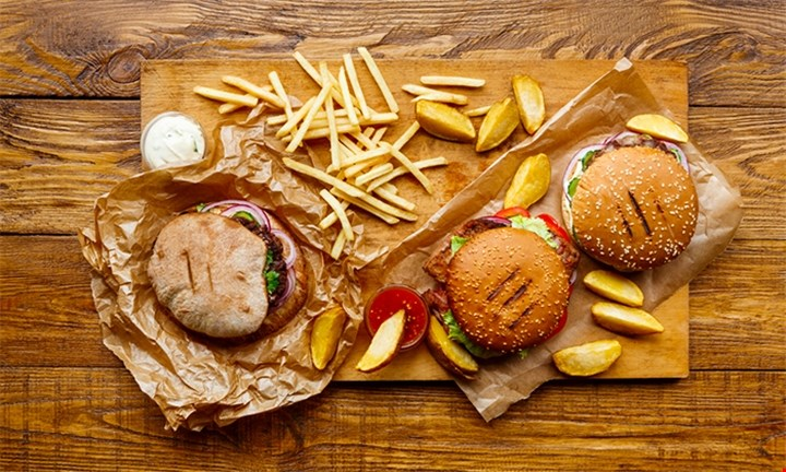 Burger and Chips/Salad for up to Four People from R79