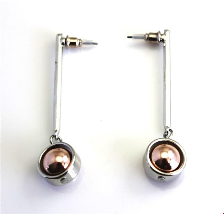 2 Tone Orbit Drop Earring for R99