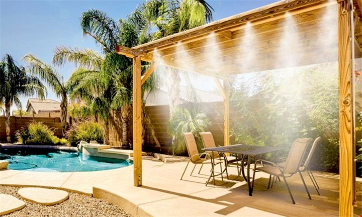 DIY Outdoor Mist Cooling System for R399