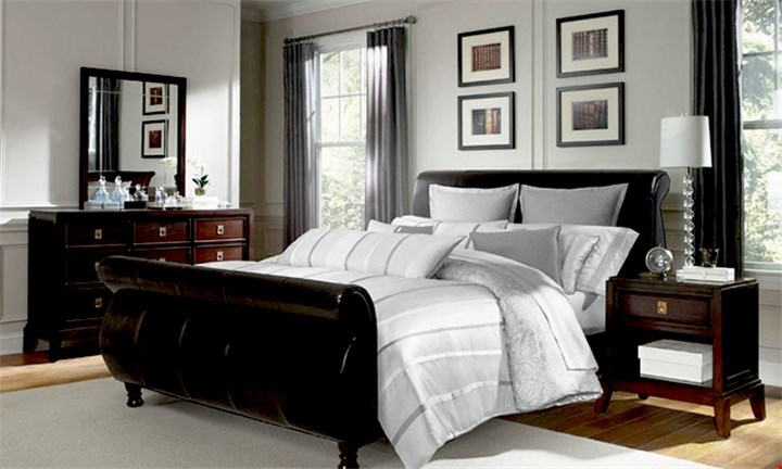 Issabella Faux Leather Sleigh Bed Base from R3899 incl Delivery