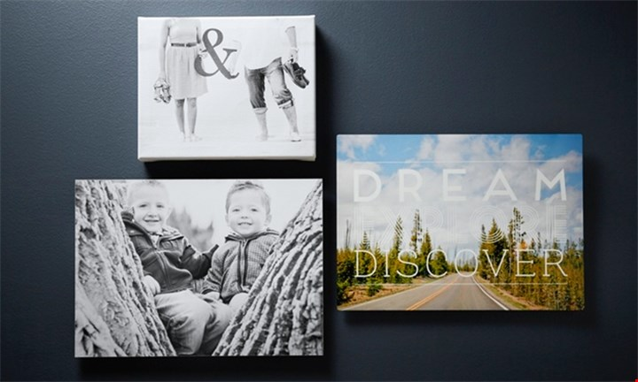 21 10cm x 10cm Canvasses Stretched onto a 10mm MDF frame for R499 at Mojo Printing