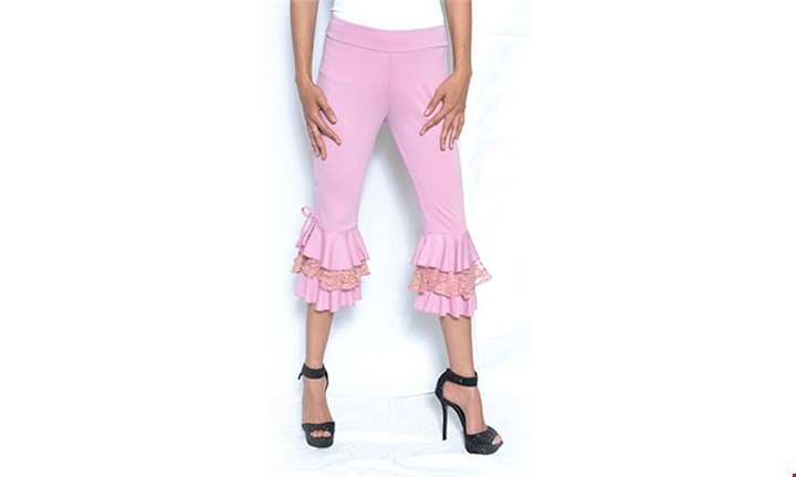Ladies Ruffle Layered Summer Capri Pants for R199