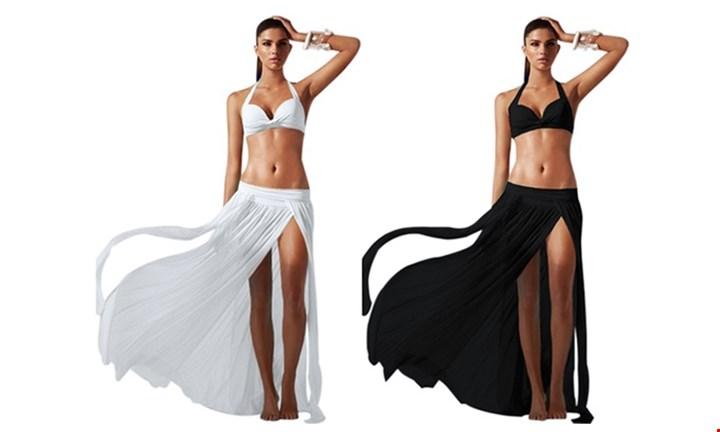 Maxi Beach Skirt with Slits for R199