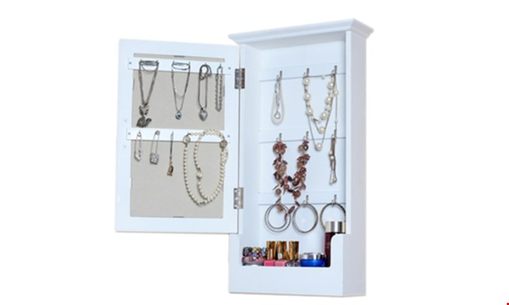 Wooden Mirrored Wall Mounted Storage Cabinet for R499