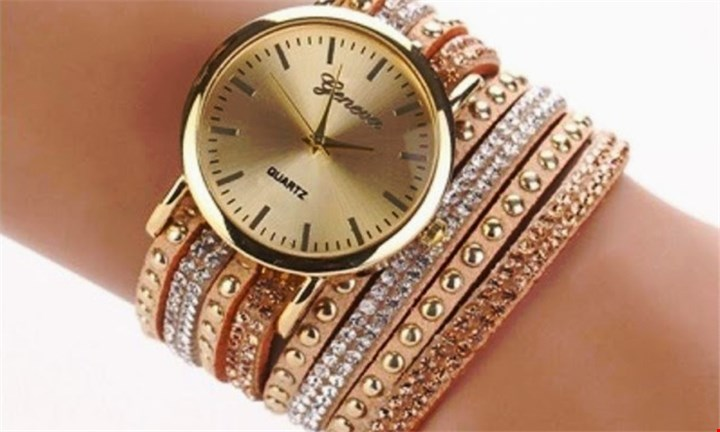 Geneva Wrap Around Faux Suede Watch for R169