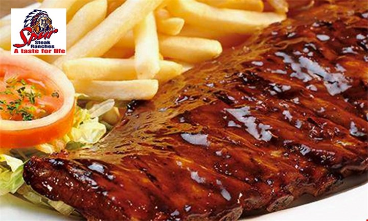 Spur's Famous Ribs and a Chocolate Sundae for Two each Multiple Spur Branches