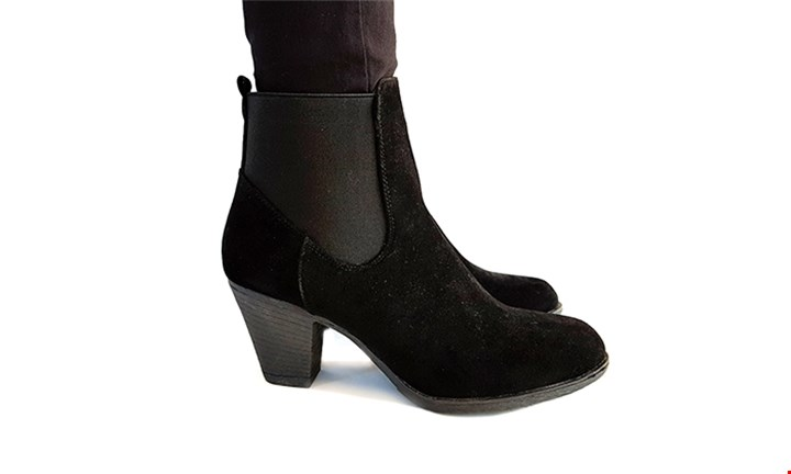 Suede Black Ankle Boot for R249