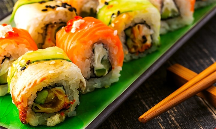 32-Piece Sushi Platter with Salmon Roses from R139 at Kobe Sushi Bar
