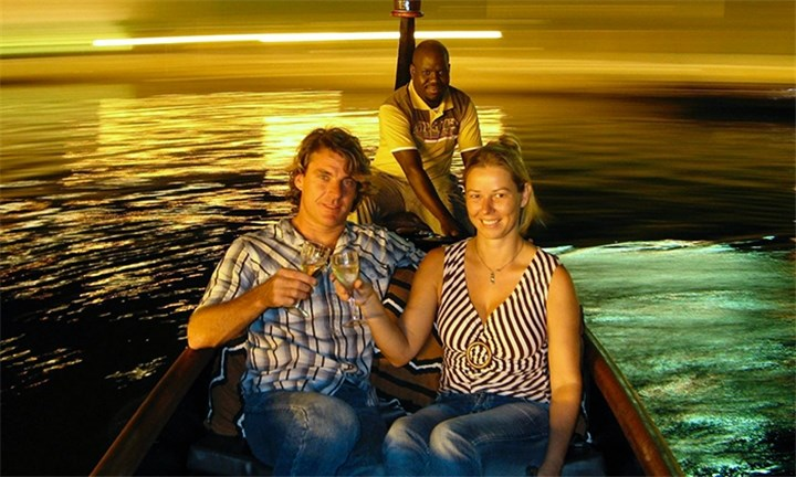 Magic Night Ride down Durban's Waterfront Canal for Four at Zulumoon Gondolas
