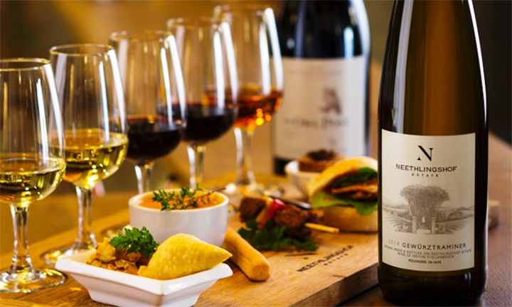Flash Food and Slow Wine Pairing for up to Four at Neethlingshof