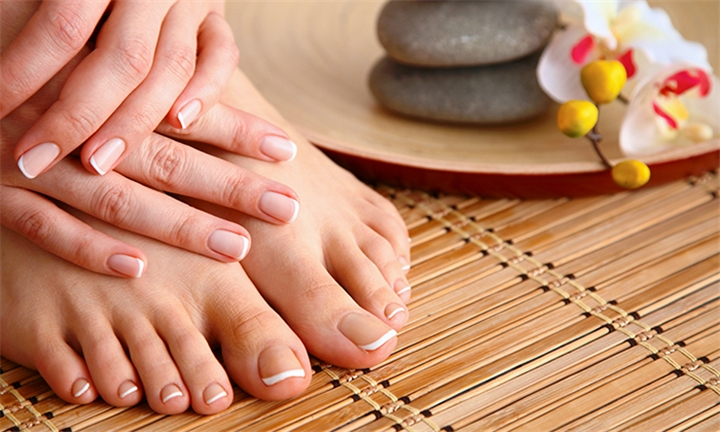 Deluxe Mani and Pedi Package for One or Two at Aloe Verde Spa