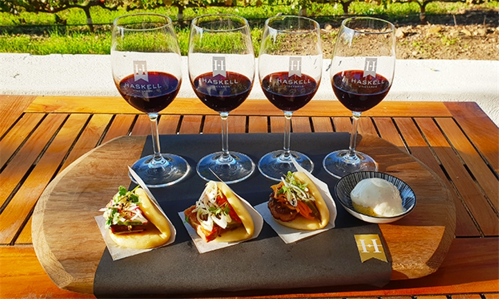 Gourmet Food and Wine Pairing for up to Four at Haskell Vineyards
