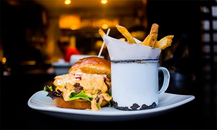 Choice of Any Burger with Chips for up to Four at L8 Cafe @ 44 Stanley