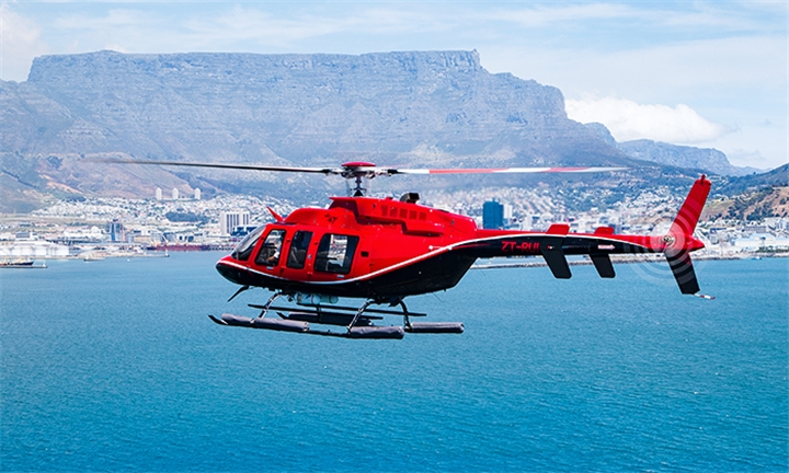 Scenic Helicopter Flight with NAC Helicopters Cape Town and 2-Course Lunch or Dinner at Mondiall Kitchen & Bar for Two