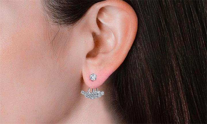 Destiny Allesandra Earrings Embellished with Swarovski Crystals for R329