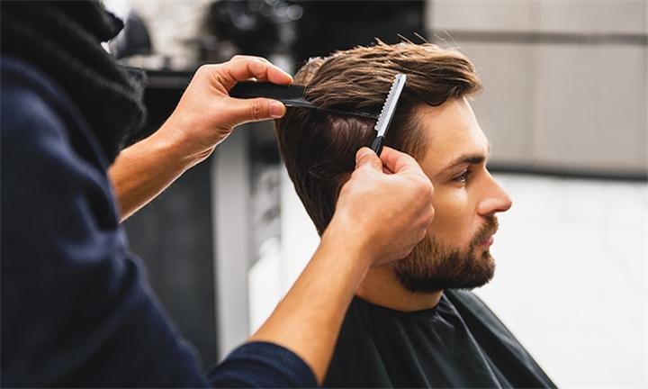Gents Haircut, Beard Trim & Scalp Massage at Salon Mystique