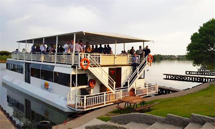 2-Hour Cruise and Buffet Meal Including Wine Tasting & Presentation for up to Ten with Liquid Lounge
