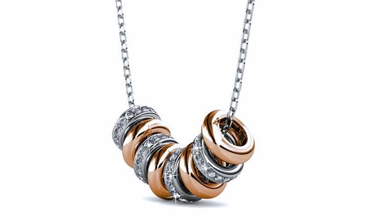 Destiny Beth Halo Necklace with Swarovski Crystals for R429