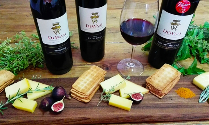 Pinotage & Cheese Pairing for up to Four at De Waal Wines