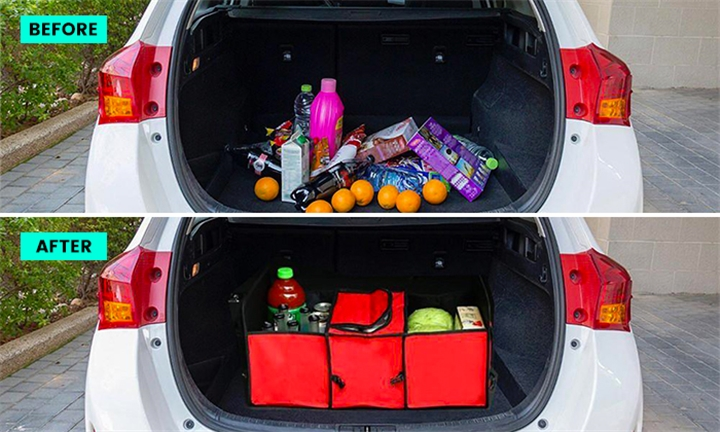 Car Collapsible Trunk Organizer with Cooler Bag for R249