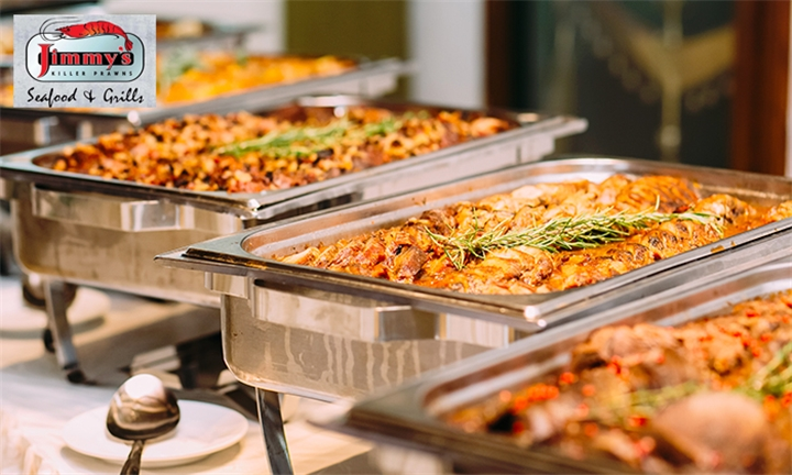 Dinner Buffet Including Bottomless Soda for up to Six Jimmy's Killer Prawns Canal Walk