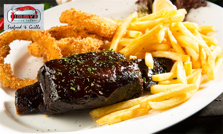 Lunchtime Cruncher: Chicken, Fish or Steak with Sides at Jimmy's Killer Prawns Canal Walk