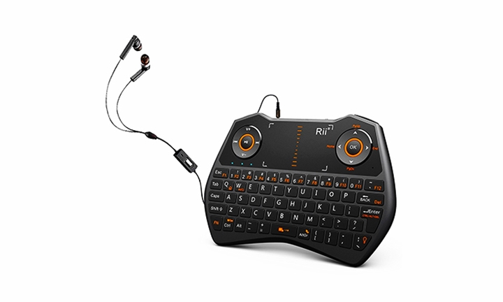 Rii i28c 3-in-1 Backlit Wireless Mini Keyboard With Touchpad for R499
